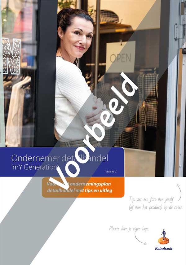 Ondernemingsplan voorbeeld detailhandel - voorbeeldcover