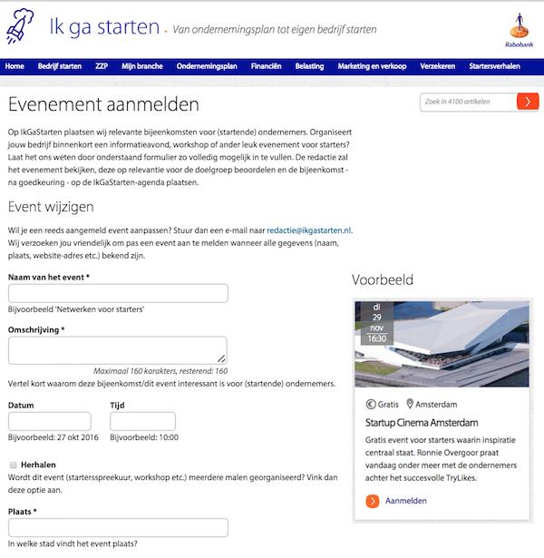 Aanmeldformulier agenda IkGaStarten