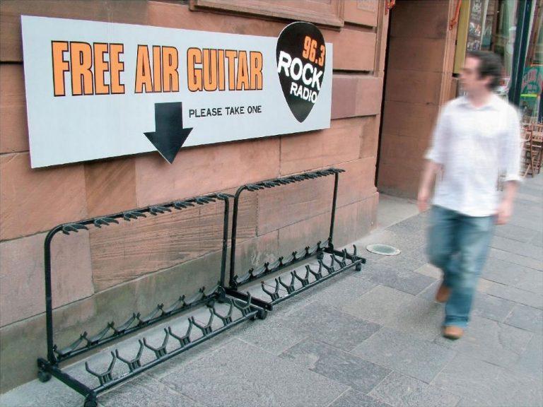 Guerillamarketing radiostation